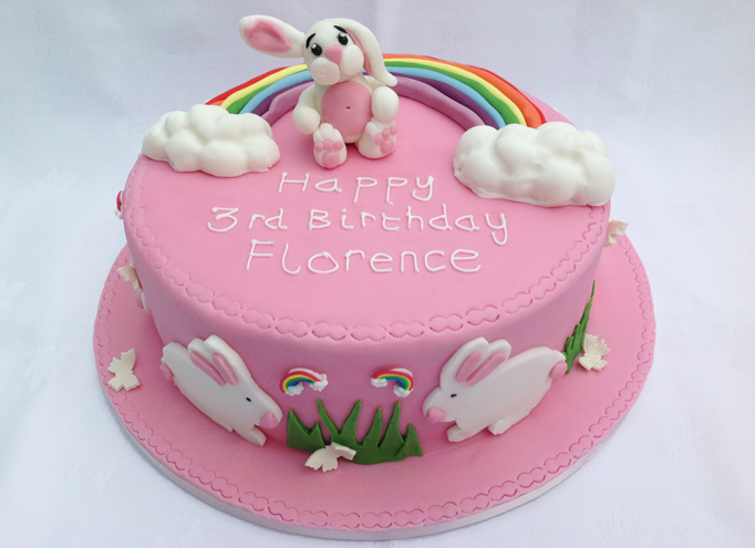 RAINBOW BUNNY BIRTHDAY CAKE