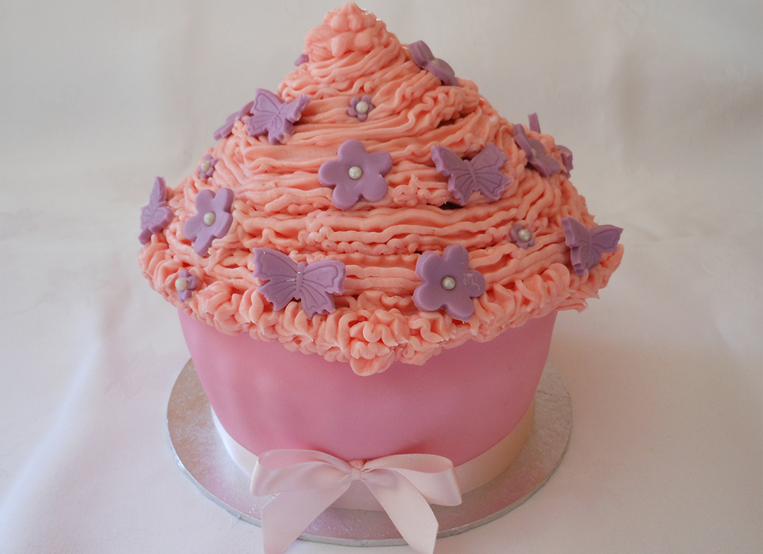 Giant Birthday Cupcake - Loughborough Cake Makers